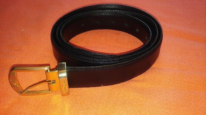 Cinturon De Hombre. Muy Fino, De Vestir. Negro. Elegante.