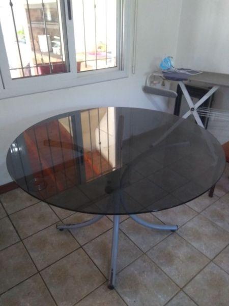 Mesa de vidrio redonda 120 cm