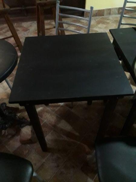 Vendo mesas para bar