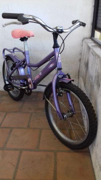 bicicleta de paseo violeta full rodado 16 lista para usar !
