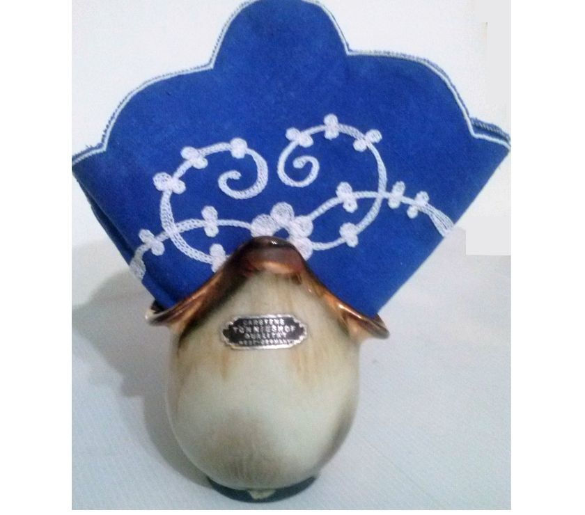 Antiguo servilletero o florero de alemania occidental con se