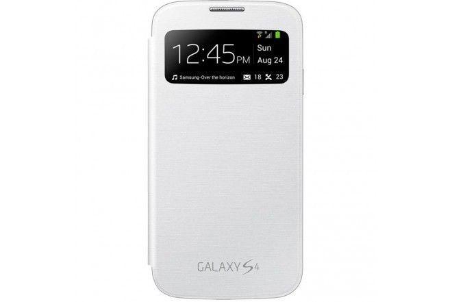 Flip Cover S-view Samsung Galaxy S4 Color Blanco Nuevo