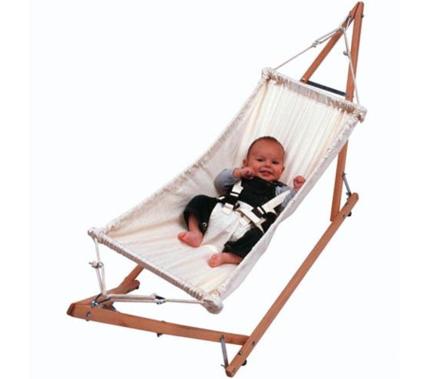 Soporte plegable con hamaca para bebe