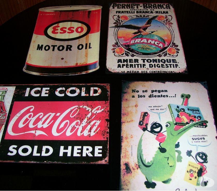 carteles antiguos de chapa pintados pesos 400