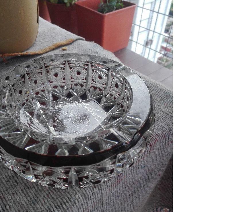 cenicero crital de murano facetado