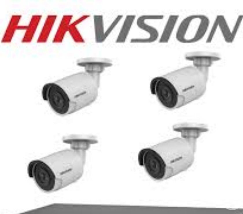 Kit 4 Camaras Hikvision HD 720p 4en1 Dnr Turbo Hd 2.8m