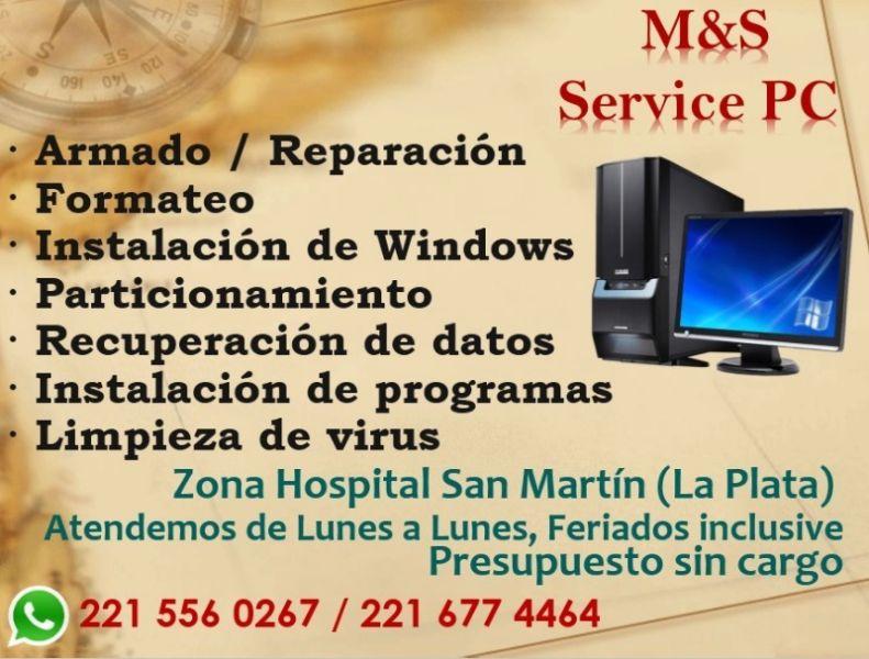 REPARACIÓN Y VENTA DE PC EN LA PLATA. ZONA HOSPITAL SAN