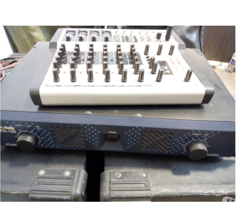 Vendo combo mesa mezcladora y potencia 240 rms 2 canales