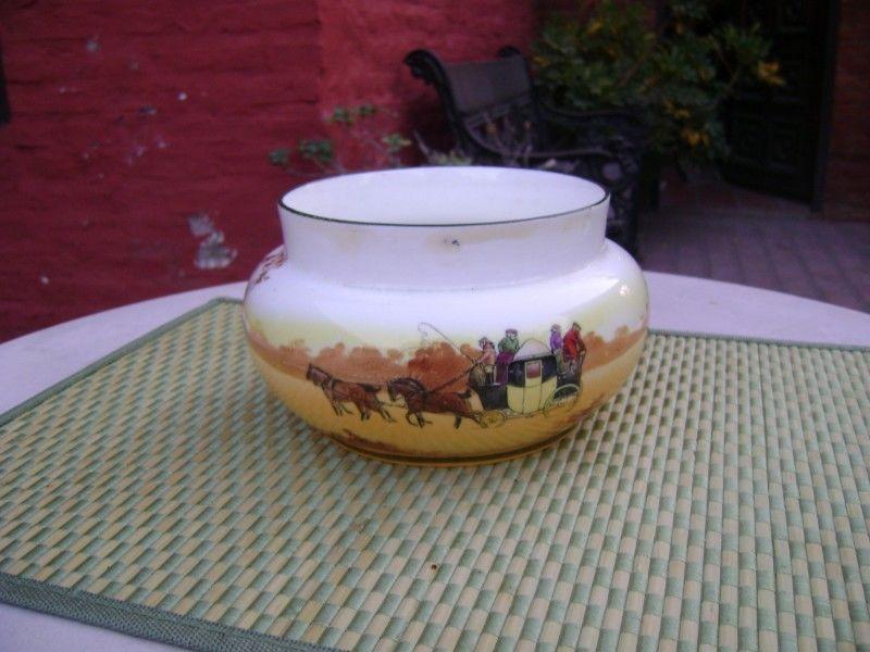 Antiguo Florero 2 O Bowl De Flores Royal Doulton Cocheros