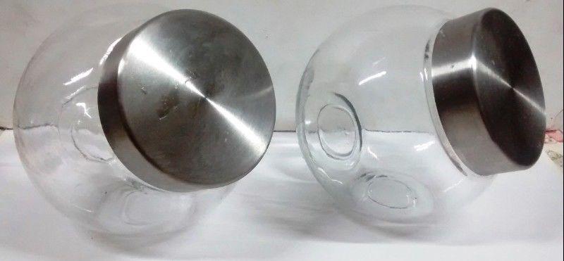 Frasco Caramelera De Vidrio Con Tapa De Acero