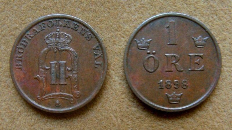 Moneda de 1 öre Suecia
