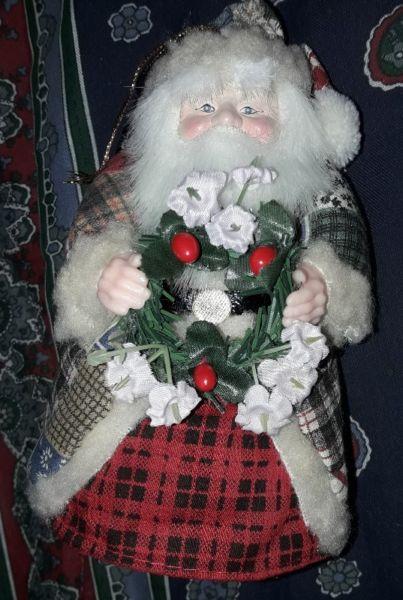 Papa Noel único absolutamente decorado 15 cm de alto x 8 cm