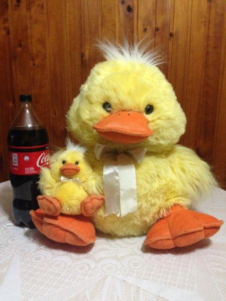 Peluche Grande de Pato con su Bebe!!
