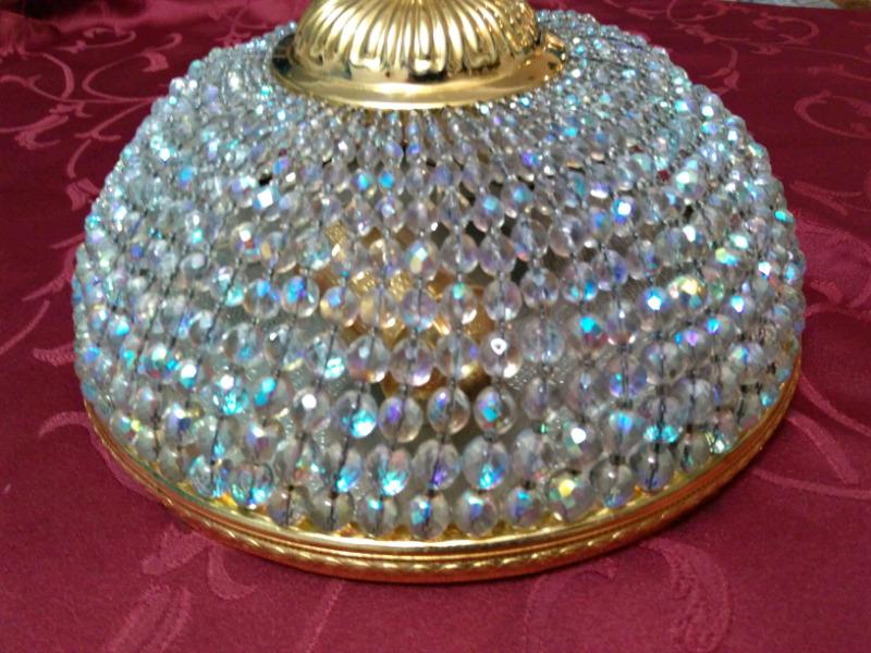 Plafon imperio, cristal de roca y bronce