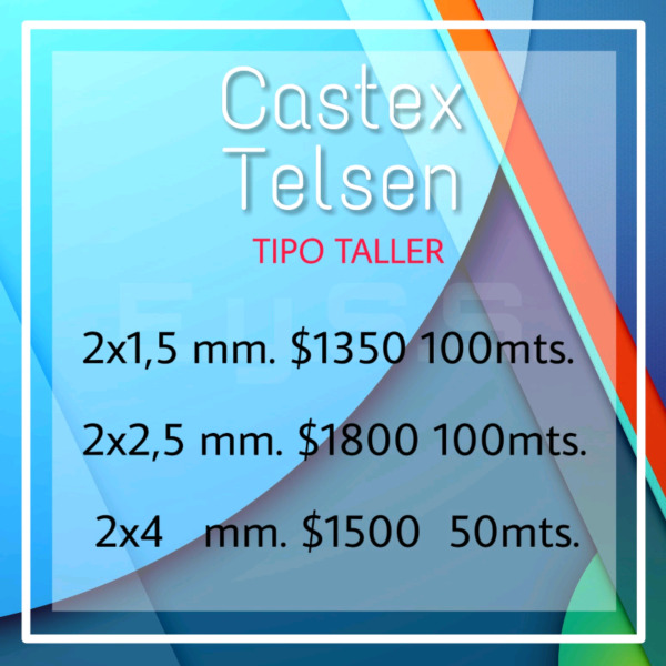 Cable Tipo Taller Castex 2 x 1,5 mm 2 x 2,5 mm 2 x 4 mm