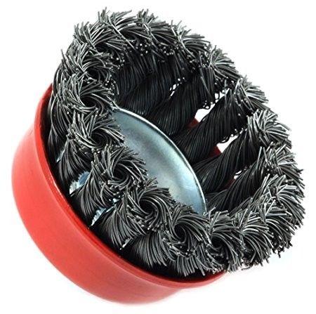 Cepillo Copa Acero Trenzado P/amoladora Angular 2.5 Pulgadas