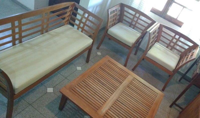 Juego Muebles de Jardín de Madera Teka