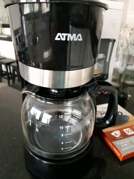 CAFETERA ATMA CAN NEGRA DOS USOS IMPECABLE CON FILTROS