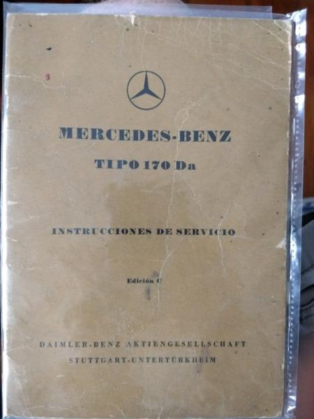 Manual de Mercedes Benz 170 Da - año