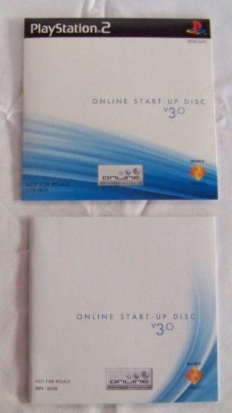 Manual de usuario y disco CD de arranque Play Station 2, PS2