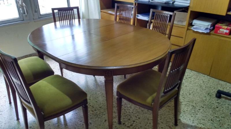Mesa silla y modular estilo inglés