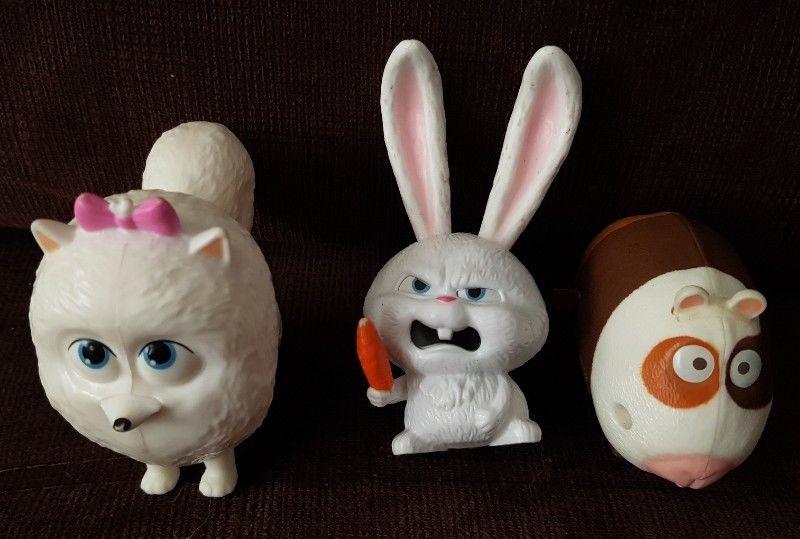 Muñecos de Plastico Moviles La Vida Secreta de tu Mascota