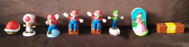 Muñecos de Plastico Moviles Mario Bros. De Mc Donalds