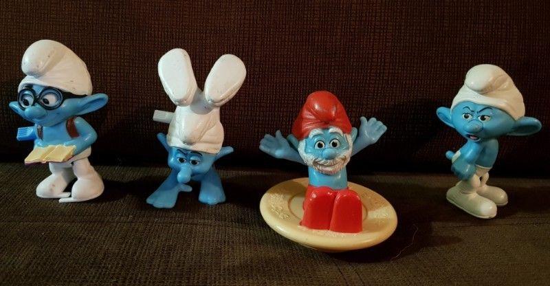 Muñecos de Plástico Móviles Pitufos Mc Donald's