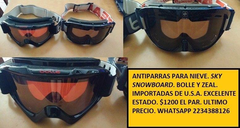 e52c29114b Par antiparras sky snowboard gafas bolle y zeal excelete