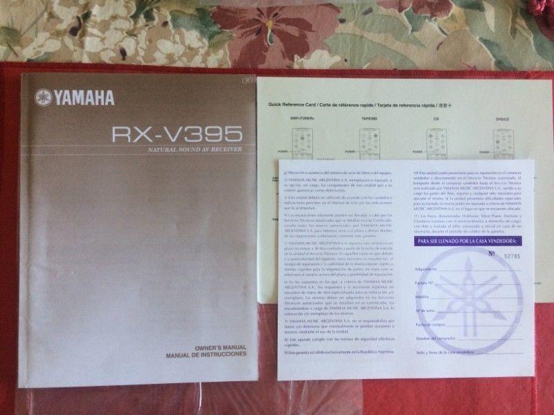 Yamaha Rxv395 Manual De Usuario E Instruccion Caba Envios