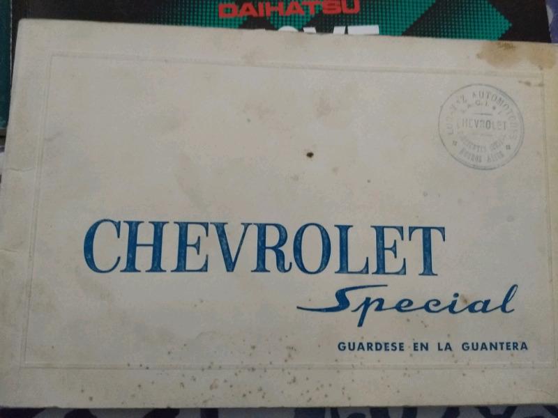Manual de usuario original de Chevrolet Special