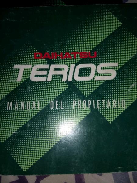 Manual de usuario original de Daihatsu Terios