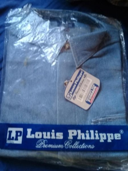 Camisa Hombre Louis Philippe Azul-celeste Manga Corta M