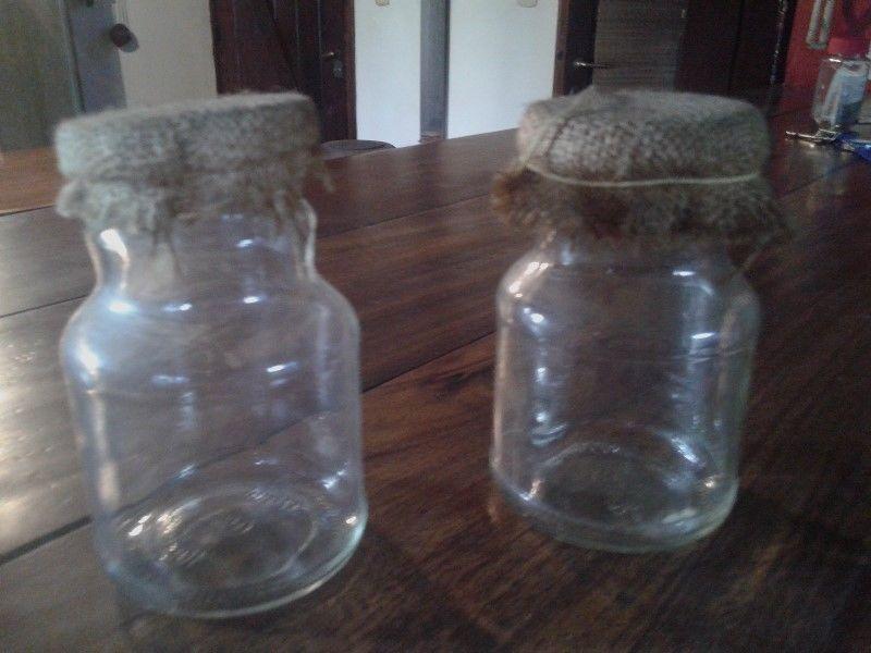 Frascos de vidrio para usos multiples