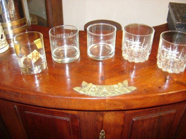 Juego De 7 Antiguos Vasos De Wiskey De Cristal