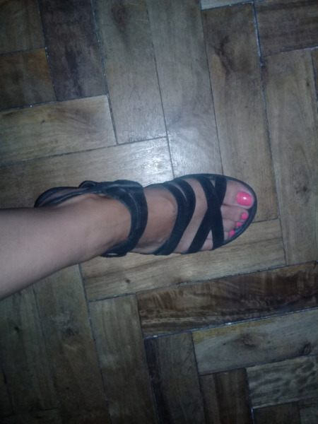 Vendo sandalias de gamuza