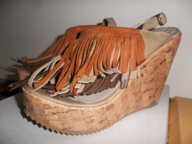 sandalias con flecos nº