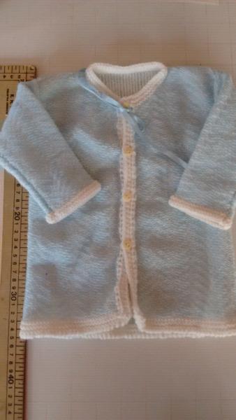 Saquito tejido bebé