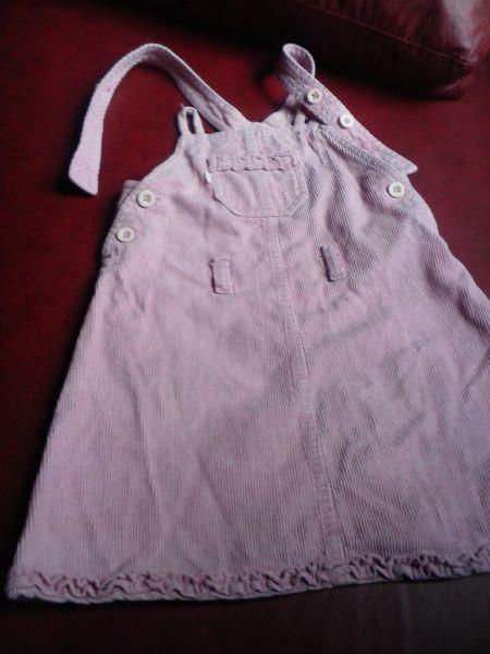 505c09dc3 Vestido de corderoy color blanco para nena de