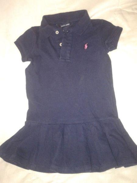 Vestido Ralph Lauren Tipo Chemis Nena De 2-3años Perfecto
