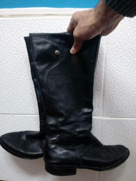 botas de cuero para mujer