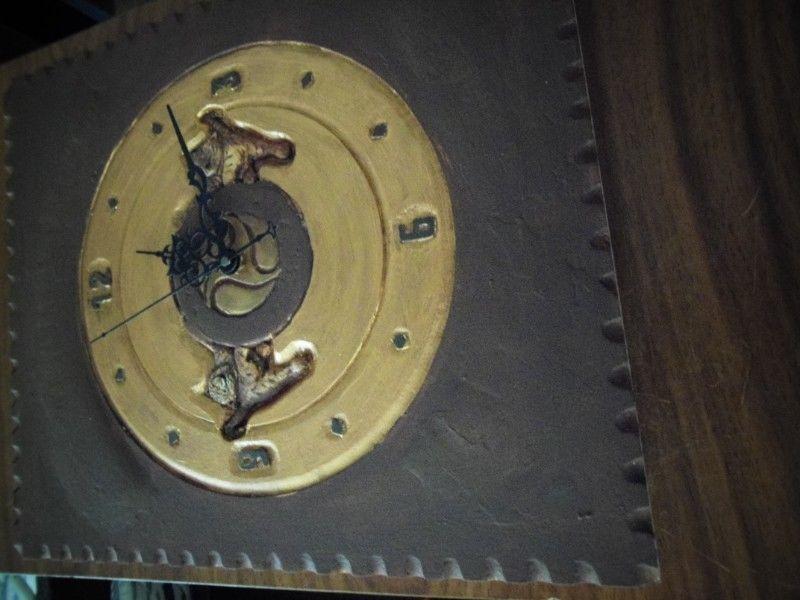 reloj de pared tallado a mano Pieza unica
