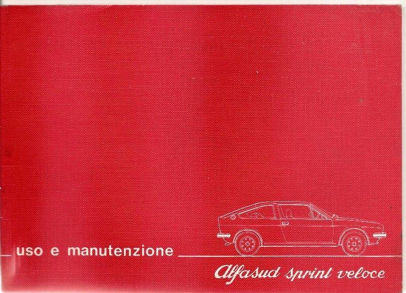 Manual Alfa Romeo Alfasud Sprint Veloce - de usuario en