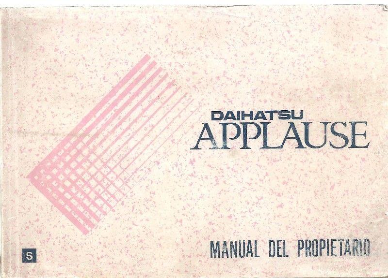 Manual Daihatsu Applause de usuario - en formato digital