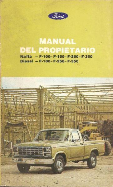 Manual FORD F100 - linea  - de usuario en formato