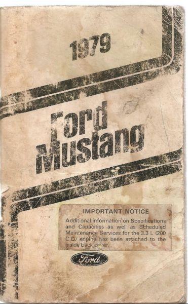 Manual Ford Mustang año  - de usuario en formato