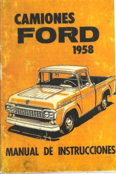 Manual Ford f100 año  - LOBA / de usuario en formato