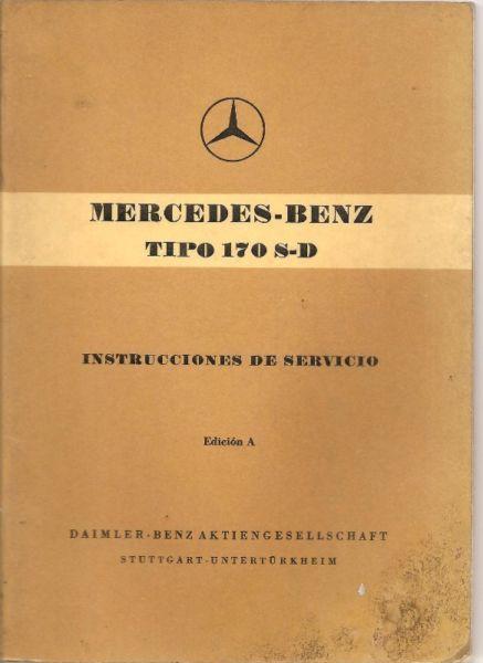 Manual MERCEDES BENZ 170 SD - de usuario en formato digital