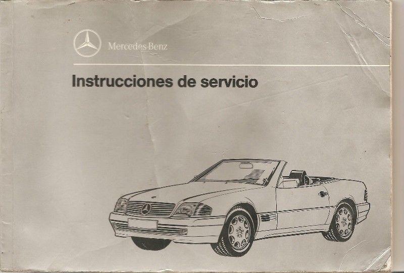 Manual Mercedes benz 280 sl/600 sl-`93 de usuario-formato