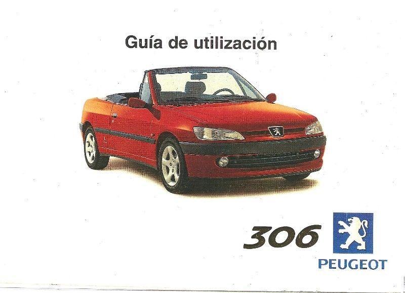 Manual Peugeot 306 cabriolet - de usuario en formato digital